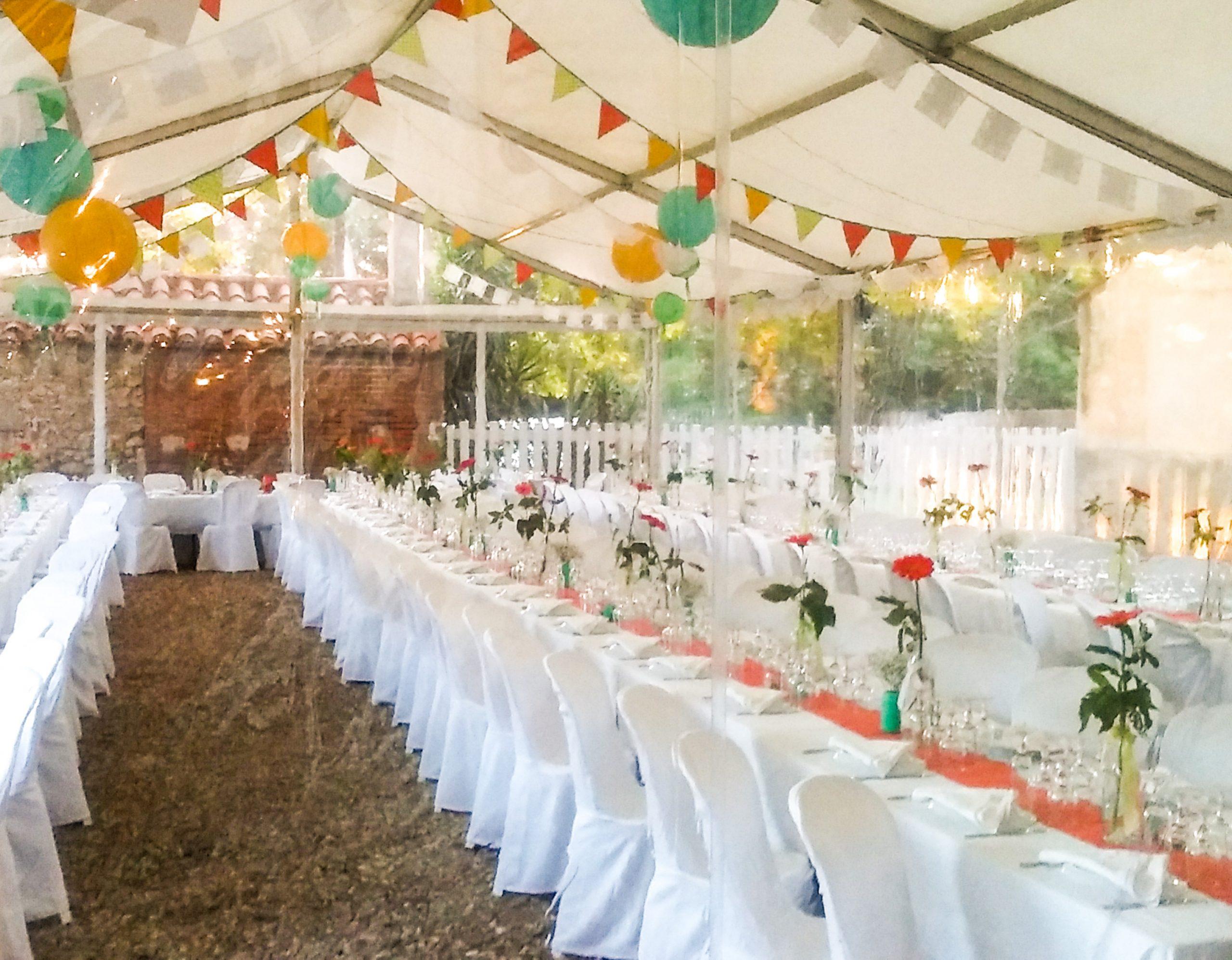 Gîte & Chambre d'hôte Pyrénées Orientales - table mariage 3